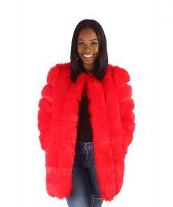 Fur Coat Red